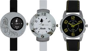 Frida Designer VOLGA Beautiful New Branded Type Watches Men and Women Combo389 VOLGA Band Analog Watch  - For Couple