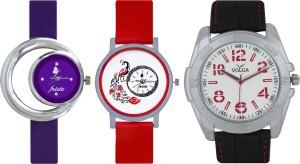 Frida Designer VOLGA Beautiful New Branded Type Watches Men and Women Combo689 VOLGA Band Analog Watch  - For Couple