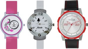Volga Designer FVOLGA Beautiful New Branded Type Watches Men and Women Combo170 VOLGA Band Analog Watch  - For Couple