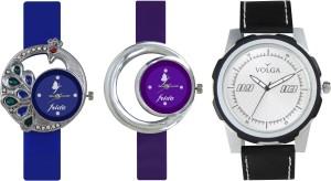 Volga Designer FVOLGA Beautiful New Branded Type Watches Men and Women Combo128 VOLGA Band Analog Watch  - For Couple