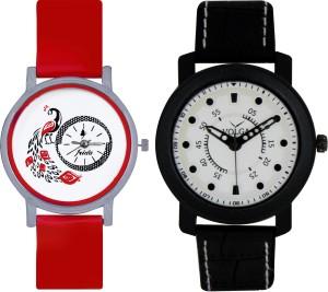 Frida Designer VOLGA Beautiful New Branded Type Watches Men and Women Combo158 VOLGA Band Analog Watch  - For Couple