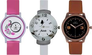 Frida Designer VOLGA Beautiful New Branded Type Watches Men and Women Combo644 VOLGA Band Analog Watch  - For Couple