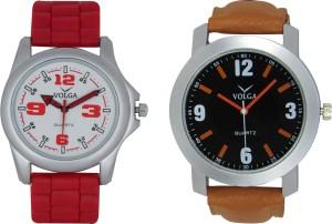 Volga Branded Leather Quality Designer Dial Diwali Special Combo90 Designer Sport Looks WaterProof Mens Watch Analog Watch  - For Men