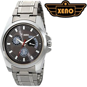 Xeno BN16 Day Date Type Chronograph Pattern Silver Metal Grey New Look Fashion Stylish Modish Analog Watch  - For Boys