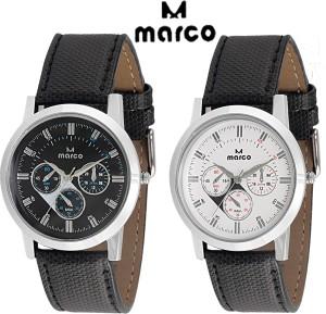 Marco elite 188 gents combo blk wht Analog Watch  - For Men