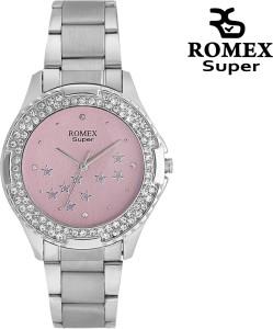 Romex Studded Elegant Analog Watch  - For Women