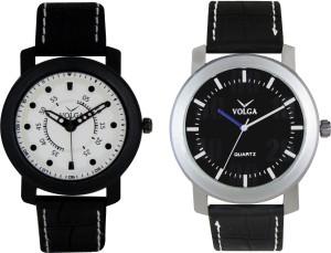 Volga Branded Leather Quality Designer Dial Diwali Special Combo311 Designer Sport Looks WaterProof Mens Watch Analog Watch  - For Men