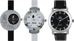 Volga Designer FVOLGA Beautiful New Branded Type Watches Men and Women Combo111 VOLGA Band Analog Watch  - For Couple