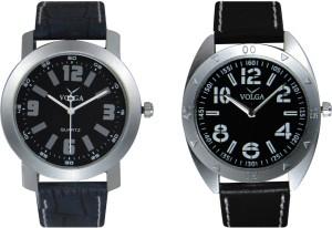 Volga Branded Leather Quality Designer Dial Diwali Special Combo576 Designer Sport Looks WaterProof Mens Watch Analog Watch  - For Men