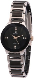 IIK Collection Silver-Black Analog Watch  - For Women