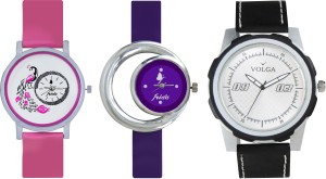 Volga Designer FVOLGA Beautiful New Branded Type Watches Men and Women Combo152 VOLGA Band Analog Watch  - For Couple