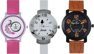 Frida Designer VOLGA Beautiful New Branded Type Watches Men and Women Combo643 VOLGA Band Analog Watch  - For Couple