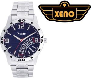 Xeno BN116 Day Date Type Chronograph Pattern Metal Blue New Look Fashion Stylish Modish Analog Watch  - For Boys