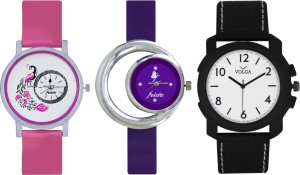Frida Designer VOLGA Beautiful New Branded Type Watches Men and Women Combo562 VOLGA Band Analog Watch  - For Couple