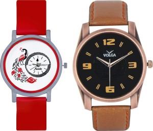 Frida Designer VOLGA New Branded Type Watches Men and Women Combo164 VOLGA Frida Couple Analog Watch  - For Couple