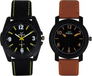 Volga Branded Leather Quality Designer Dial Diwali Special Combo317 Designer Sport Looks WaterProof Mens Watch Analog Watch  - For Men