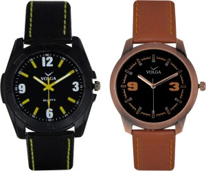 Volga Branded Leather Quality Designer Dial Diwali Special Combo319 Designer Sport Looks WaterProof Mens Watch Analog Watch  - For Men
