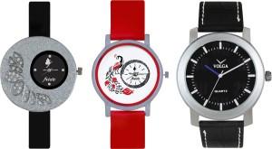 Volga Designer FVOLGA Beautiful New Branded Type Watches Men and Women Combo103 VOLGA Band Analog Watch  - For Couple