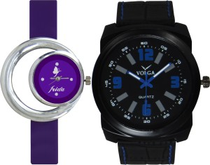 Frida Designer VOLGA Beautiful New Branded Type Watches Men and Women Combo137 VOLGA Band Analog Watch  - For Couple