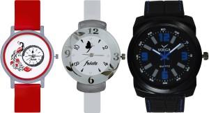 Frida Designer VOLGA Beautiful New Branded Type Watches Men and Women Combo766 VOLGA Band Analog Watch  - For Couple