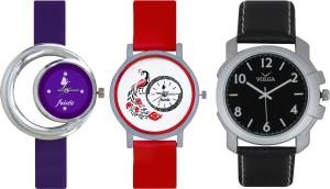 Frida Designer VOLGA Beautiful New Branded Type Watches Men and Women Combo695 VOLGA Band Analog Watch  - For Couple