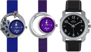 Frida Designer VOLGA Beautiful New Branded Type Watches Men and Women Combo473 VOLGA Band Analog Watch  - For Couple