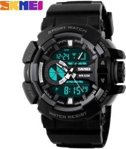 Skmei Marks-1117-Blk Sports Analog-Digital Watch  - For Men