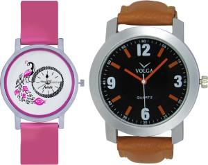 Frida Designer VOLGA Beautiful New Branded Type Watches Men and Women Combo96 VOLGA Band Analog Watch  - For Couple