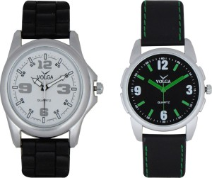Volga Branded Leather Quality Designer Dial Diwali Special Combo19 Designer Sport Looks WaterProof Mens Watch Analog Watch  - For Men