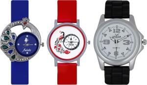 Frida Designer VOLGA Beautiful New Branded Type Watches Men and Women Combo482 VOLGA Band Analog Watch  - For Couple