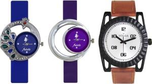 Volga Designer FVOLGA Beautiful New Branded Type Watches Men and Women Combo125 VOLGA Band Analog Watch  - For Couple