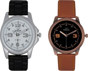 Volga Branded Leather Quality Designer Dial Diwali Special Combo14 Designer Sport Looks WaterProof Mens Watch Analog Watch  - For Men
