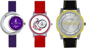 Volga Designer FVOLGA Beautiful New Branded Type Watches Men and Women Combo179 VOLGA Band Analog Watch  - For Couple