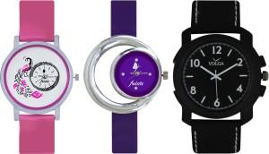 Frida Designer VOLGA Beautiful New Branded Type Watches Men and Women Combo563 VOLGA Band Analog Watch  - For Couple