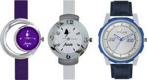 Volga Designer FVOLGA Beautiful New Branded Type Watches Men and Women Combo185 VOLGA Band Analog Watch  - For Couple