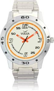 Volga VLW080004 Sports Steel belt With Designer Stylish Branded Silver Bracelet Analog Watch  - For Men