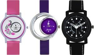 Frida Designer VOLGA Beautiful New Branded Type Watches Men and Women Combo564 VOLGA Band Analog Watch  - For Couple