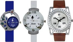 Volga Designer FVOLGA Beautiful New Branded Type Watches Men and Women Combo140 VOLGA Band Analog Watch  - For Couple