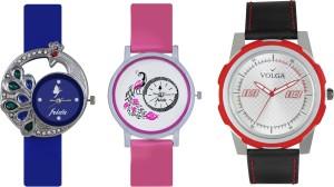 Volga Designer FVOLGA Beautiful New Branded Type Watches Men and Women Combo122 VOLGA Band Analog Watch  - For Couple