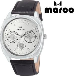 Marco elite mr-gr 2004-slv-blk Analog Watch  - For Men
