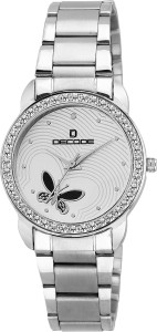 Decode Ladies Crystal Studded LR-X2 White Analog Watch  - For Women