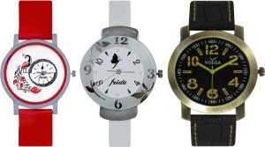 Frida Designer VOLGA Beautiful New Branded Type Watches Men and Women Combo767 VOLGA Band Analog Watch  - For Couple