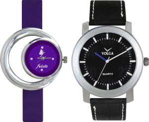 Volga Designer FVOLGA Beautiful New Branded Type Watches Men and Women Combo55 VOLGA Band Analog Watch  - For Couple