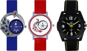 Frida Designer VOLGA Beautiful New Branded Type Watches Men and Women Combo492 VOLGA Band Analog Watch  - For Couple