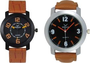 Volga Branded Leather Quality Designer Dial Diwali Special Combo398 Designer Sport Looks WaterProof Mens Watch Analog Watch  - For Men