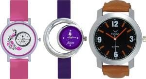 Frida Designer VOLGA Beautiful New Branded Type Watches Men and Women Combo577 VOLGA Band Analog Watch  - For Couple
