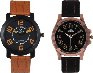Volga Branded Leather Quality Designer Dial Diwali Special Combo393 Designer Sport Looks WaterProof Mens Watch Analog Watch  - For Men