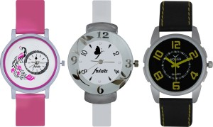 Frida Designer VOLGA Beautiful New Branded Type Watches Men and Women Combo648 VOLGA Band Analog Watch  - For Couple