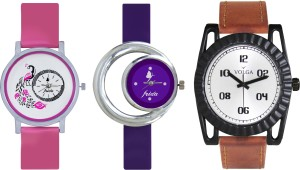 Volga Designer FVOLGA Beautiful New Branded Type Watches Men and Women Combo149 VOLGA Band Analog Watch  - For Couple