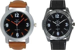 Volga Branded Leather Quality Designer Dial Diwali Special Combo552 Designer Sport Looks WaterProof Mens Watch Analog Watch  - For Men